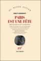 Couverture Paris est une fête Editions Gallimard  (Du monde entier) 2011