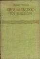 Couverture Cinq semaines en ballon Editions Hachette (Bibliothèque Verte) 1929