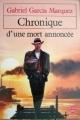 Couverture Chronique d'une mort annoncée Editions Le Livre de Poche 1981