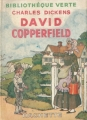 Couverture David Copperfield, abrégé Editions Hachette (Bibliothèque verte) 1946