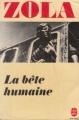 Couverture La Bête humaine Editions Le Livre de Poche 1978
