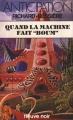 """Couverture Sydney Gordon : La Machine venue d'ailleurs, tome 6 : Quand la machine fait """"Boom"""" Editions Fleuve (Noir - Anticipation) 1980"""