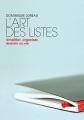Couverture L'art des listes Editions Marabout (Poche) 2008