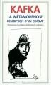 Couverture La métamorphose Editions Flammarion (GF) 1990