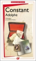 Couverture Adolphe Editions Flammarion (GF) 2011