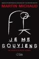 Couverture Je me souviens Editions Goélette 2012