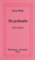 Couverture De Profundis Editions Stock 1985
