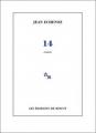 Couverture 14 Editions de Minuit 2012