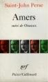Couverture Amers suivi de Oiseaux Editions Gallimard  (Poésie) 1979