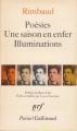 Couverture Poésies, Une saison en enfer, Illuminations Editions Gallimard  (Poésie) 1980