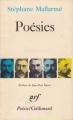 Couverture Poésies Editions Gallimard  (Poésie) 1979