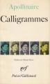 Couverture Calligrammes Editions Gallimard  (Poésie) 1979