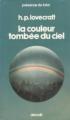 Couverture La couleur tombée du ciel Editions Denoël (Présence du futur) 1975