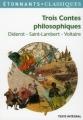 Couverture Trois contes philosophiques Editions Flammarion (GF - Etonnants classiques) 2012