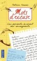 Couverture Mots d'excuse Editions Pocket 2012