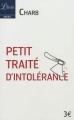 Couverture Les fatwas de Charb, petit traité d'intolérance , tome 1 Editions Librio (Idées) 2012
