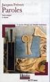 Couverture Paroles Editions Folio  (Plus classiques) 2004