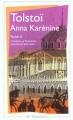 Couverture Anna Karénine, tome 2 Editions Flammarion (GF) 1999