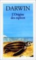 Couverture L'origine des espèces Editions Flammarion (GF) 1993