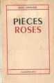 Couverture Pièces roses Editions Calmann-Lévy 1949