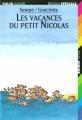 Couverture Les vacances du petit Nicolas Editions Folio  (Junior - Edition spéciale) 1997