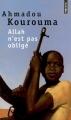 Couverture Allah n'est pas obligé Editions Points 2002