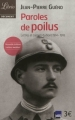 Couverture Paroles de Poilus Editions Librio 2012