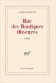 Couverture Rue des boutiques obscures Editions Gallimard  (Blanche) 1978