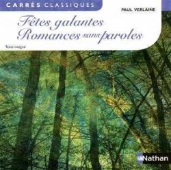 Couverture Fêtes galantes, Romances sans paroles