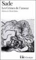 Couverture Les crimes de l'amour Editions Folio  (Classique) 1987