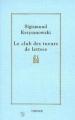 Couverture Le club des tueurs de lettres Editions Verdier 1993