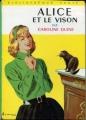 Couverture Alice et le vison Editions Hachette (Bibliothèque Verte) 1962