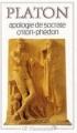 Couverture Apologie de Socrate, Criton, Phédon Editions Flammarion (GF) 1965