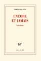 Couverture Encore et jamais Editions Gallimard  (Blanche) 2013