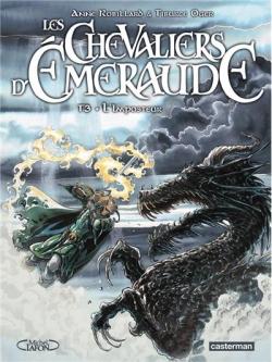 Couverture Les Chevaliers d'Émeraude (BD), tome 3 : L'Imposteur
