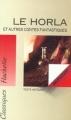 Couverture Le Horla et autres récits Editions Hachette (Classiques) 1994