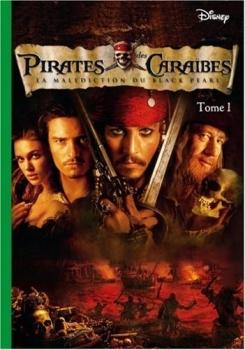 Couverture Pirates des Caraïbes (Bibliothèque Verte), tome 1 : La Malédiction du Black Pearl