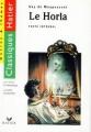 Couverture Le Horla et autres récits Editions Hatier (Classiques - Oeuvres & thèmes) 1997