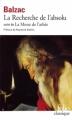 Couverture La recherche de l'absolu Editions Folio  (Classique) 1976
