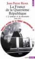 Couverture Nouvelle histoire de la France contemporaine, tome 15 : La France de la Quatrième République, partie 1 : L'ardeur et la nécessité 1944-1952 Editions Points (Histoire) 1980