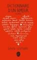 Couverture Dictionnaire d'un amour Editions Le Livre de Poche 2013