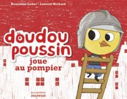 Couverture Doudou Poussin joue au pompier